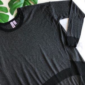Wilt Striped Asymmetrical Silk Cashmere Knit Top